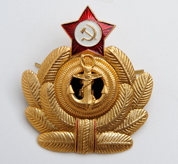 Soviet Military Naval NAVY Fleet Uniform Hat Badge