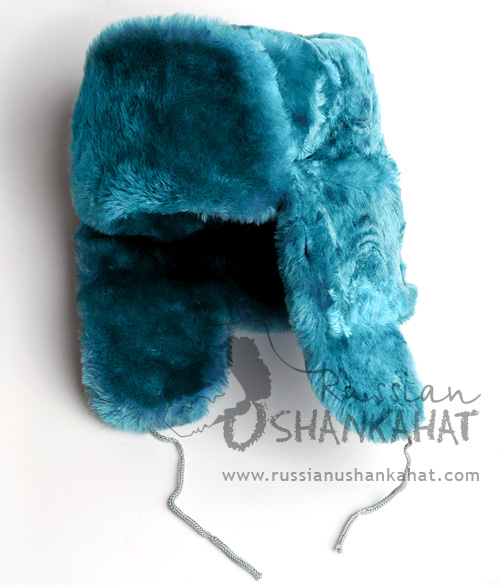 Light Blue Fur Hat