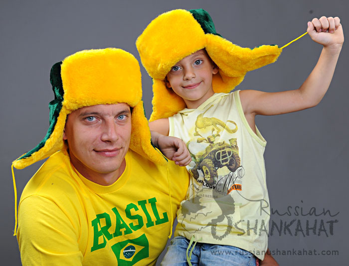 Green-Yellow Fur Hat