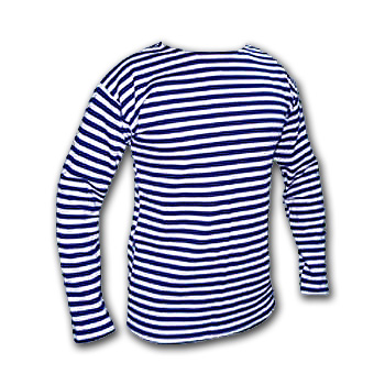 Soviet Russian Military NAVY Fleet Naval Uniform Dark Blue Striped TELNYASHKA Shirt