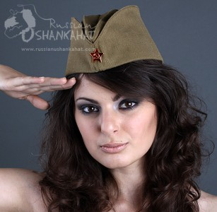 "Genuine Soviet Army Soldier Uniform ""Pilotka"" Hat with Red Star Badge - Old Unused Surplus"