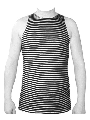 Russian Army Naval Infantry Marines Uniform Black Striped TELNYASHKA Shirt Tank Top Sleeveless