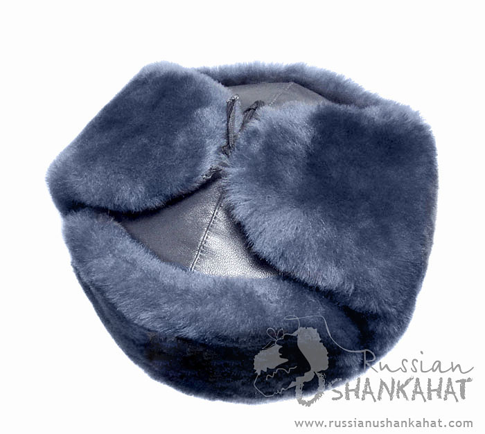 406eb66a84a48 Winter Hat With Ear-Flaps - Russian Army Ushanka, Soviet Badge - Grey-