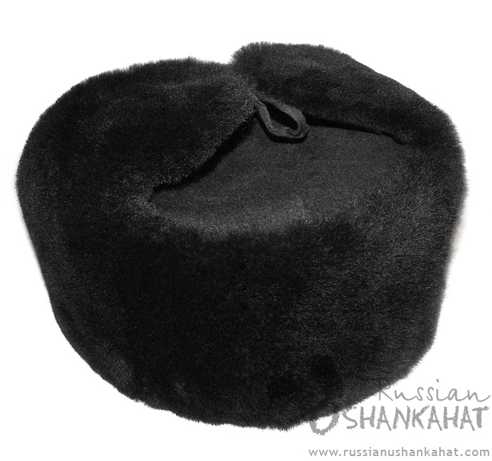 Russian Sheepskin Hat - Ushanka - Original Military Uniform - Red Star Badge