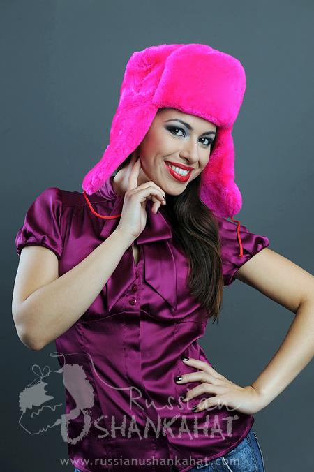 bae48c31b974e Pink Fur Hat   Trooper Hat - Fake Fur - Soviet NAVY Badge - Fucsia