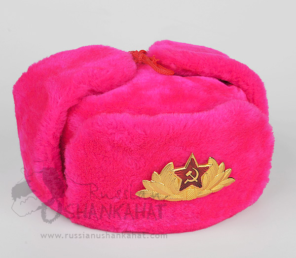 Soviet Army / Military Soldier Parade Uniform Ushanka or Visor Hat Badge