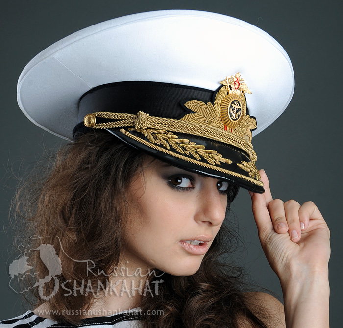 33914129f57 Russian Army Navy Naval Fleet Admiral Uniform Visor Hat Peaked Cap White