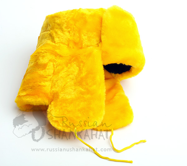 Trapper Hat - Yellow Fake Fur