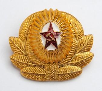 Soviet Army / Military Officer Uniform Ushanka or Visor Hat Badge #2