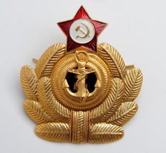 Soviet Military Naval NAVY Fleet Uniform Hat Badge
