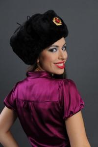 Black fur hat wholesale
