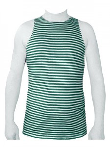 Russian Army Border Guard Forces Uniform Green Striped TELNYASHKA Shirt Tank Top Sleeveless
