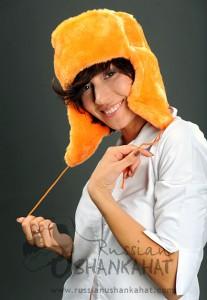 Orange Fur Hat - Ushanka