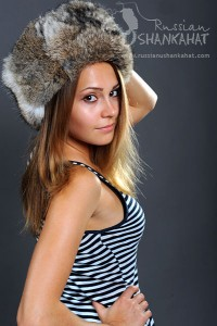 Brown Rabbit Russian Fur Hat Ushanka