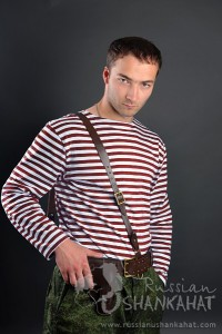 "Russian Army Special Forces (""Spetsnaz"") Uniform Maroon (Red) Striped TELNYASHKA Shirt"