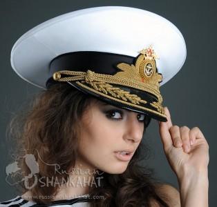 Russian Army Navy Naval Fleet Admiral Uniform Visor Hat Peaked Cap White