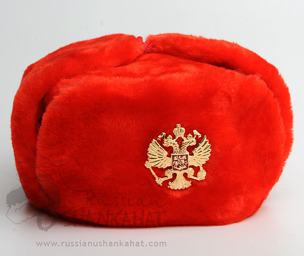 Red Fur Ushanka Hat