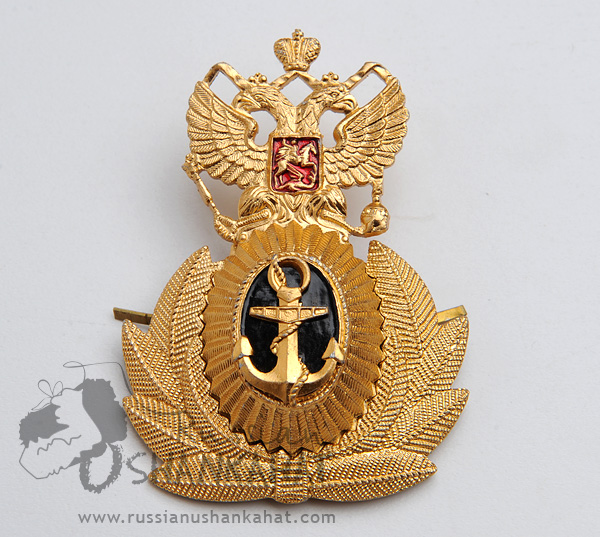 Russian Military NAVY Naval Fleet Uniform Hat Badge #2