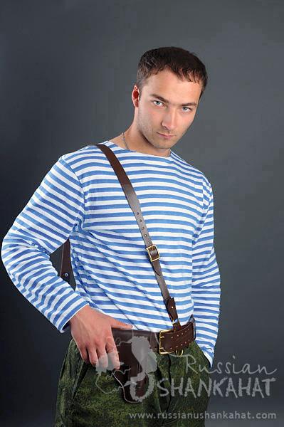Details about  /Russian Telnyashka Vest T-shirt Paratrooper blue stripe