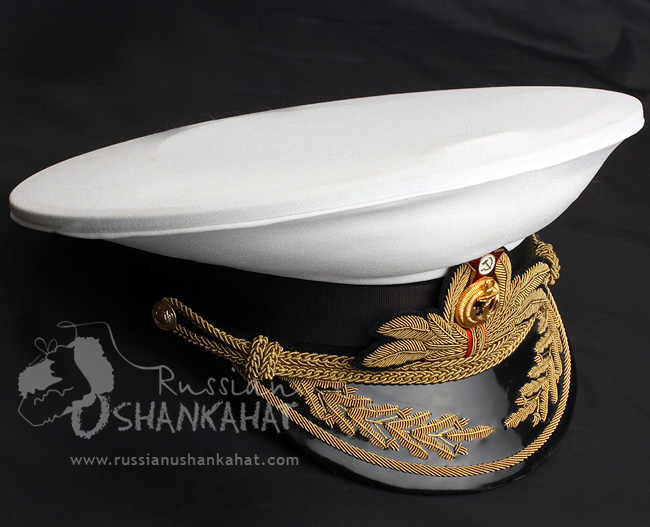 Soviet Military Navy Naval Fleet Admiral Uniform Visor Hat Peaked Cap White